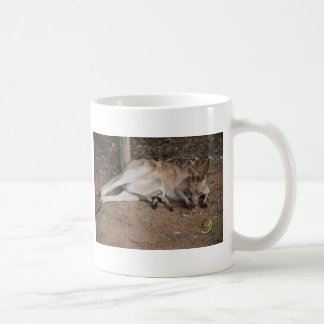 Mama Kangaroo with Joey in Pouch Basic White Mug