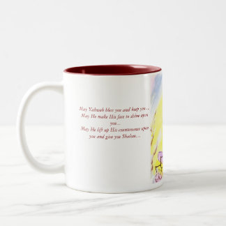 Mama, Thank you Yahweh, for all my many blessin... Two-Tone Coffee Mug