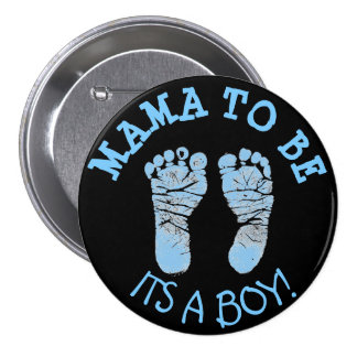 Mama to Be Baby Shower Button Black and Blue