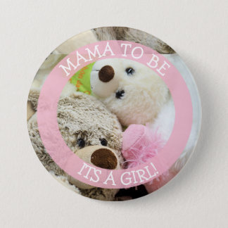 Mama to be, baby shower button, Teddy Bears 7.5 Cm Round Badge
