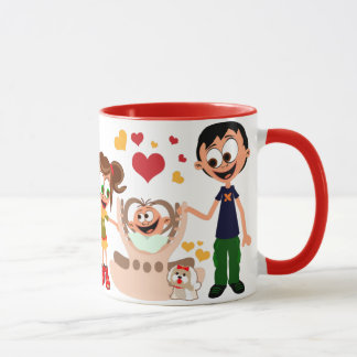 Mama voli bebu (Mummy Loves Baby) Mug 02