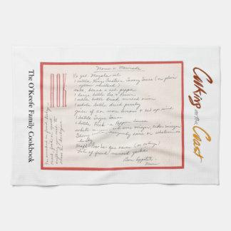 Mama's Handwritten Marinade Recipe Tea Towel