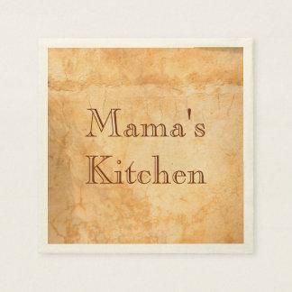 Mama's kitchen Italian style terracotta Paper Napkins