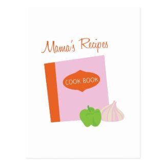 Mamas Recipes Postcard
