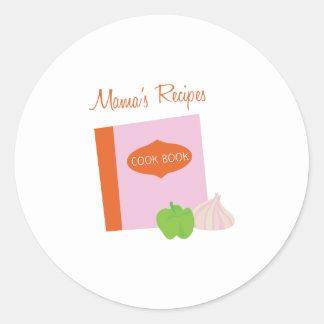 Mamas Recipes Round Sticker