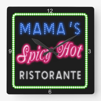 Mama's Spicy Hot Ristorante ID234 Clock