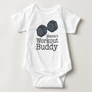 Mama's Workout Buddy Baby Bodysuit