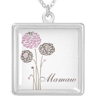 Mamaw Necklace Stylish Dahlia Flowers