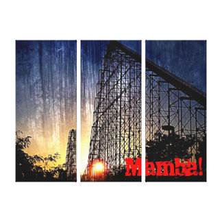 Mamba Rollercoaster World's of Fun Kansas City Gallery Wrap Canvas