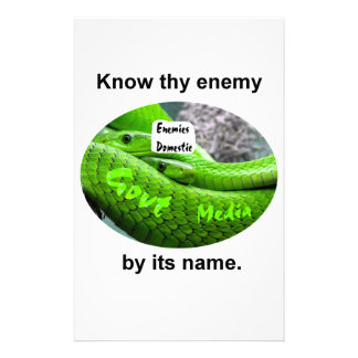 Mamba Snake - Know Thy Enemy By Its Name Stationery