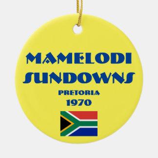Mamelodi Sundowns Soccer Circle Ornament