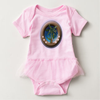 Mameluco for babies with ballet tutu, Rosa Baby Bodysuit