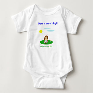 """Mameluco for baby """"To great day! """" Baby Bodysuit"""