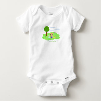 "Mameluco of algón ""Cathy and the Cat"" and apples Baby Onesie"