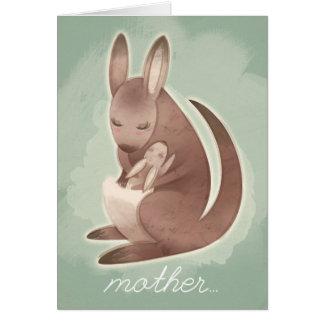 Mamma & Baby Kangaroo Mother's Day Card
