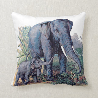Mamma Elephant and Her Baby Pillow