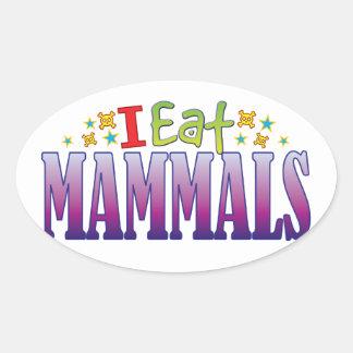Mammals I Eat Oval Sticker