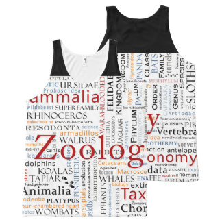 Mammals in Typography All-Over Print Tank Top