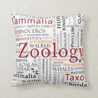 Mammals in Typography Cushion