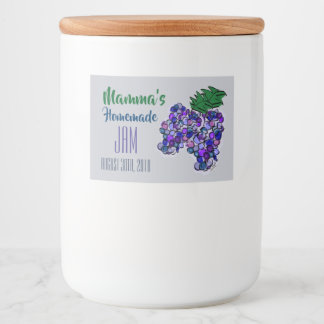Mamma's Homemade Jam Grapes Customize Food Label