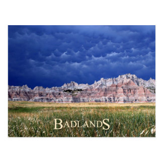 Mammatus clouds over Badlands National Park Postcard