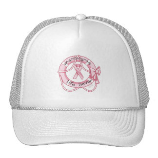 Mammogram is a Life Saver - Breast Cancer Awarness Hats