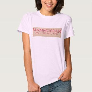 Mammogram: Pinch the girls, girls. T-shirts