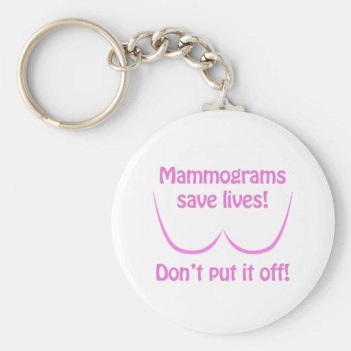Mammograms Save Lives! Keychain