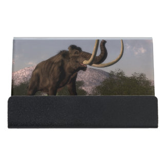 Mammoth - 3D render Desk Business Card Holder