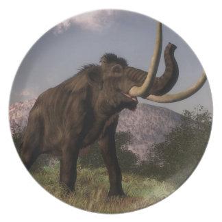 Mammoth - 3D render Dinner Plate
