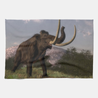 Mammoth - 3D render Hand Towels