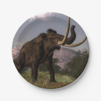 Mammoth - 3D render Paper Plate