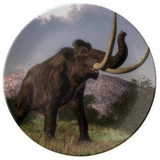 Mammoth - 3D render Porcelain Plate