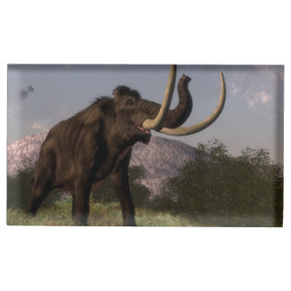 Mammoth - 3D render Table Card Holder
