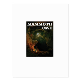 mammoth cave brown postcard