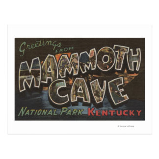 Mammoth Cave, Kentucky - Large Letter Scenes Postcard