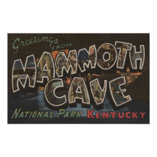 Mammoth Cave, Kentucky - Large Letter Scenes Poster