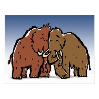 mammoth couple postcard