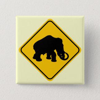 Mammoth Crossing 15 Cm Square Badge