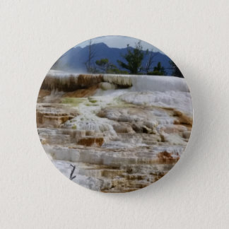 Mammoth Hot Springs 6 Cm Round Badge