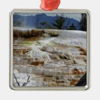 Mammoth Hot Springs Metal Ornament