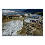 Mammoth Hot Springs, Yellowstone National Park, Wy Poster