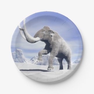 Mammoth in the wind 7 inch paper plate