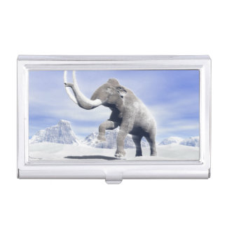 Mammoth in the wind business card holder