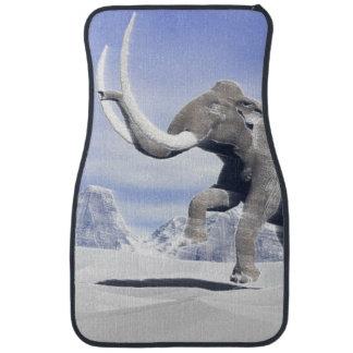 Mammoth in the wind car mat