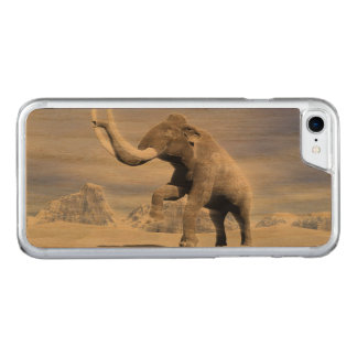 Mammoth in the wind carved iPhone 7 case