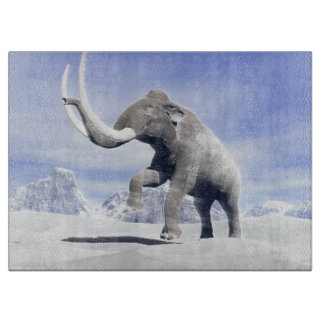 Mammoth in the wind cutting board