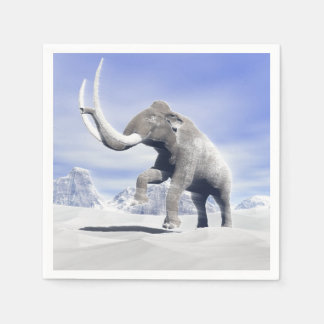 Mammoth in the wind disposable napkins