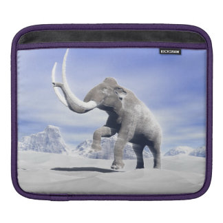 Mammoth in the wind iPad sleeves
