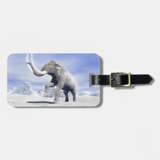 Mammoth in the wind luggage tag